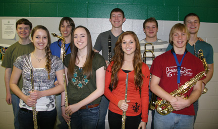 Ten students make State band