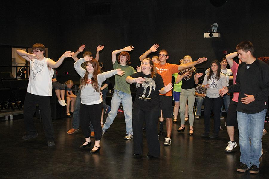 The Crazy for You cast works towards a successful musical