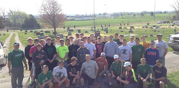 Football team gives back to the community