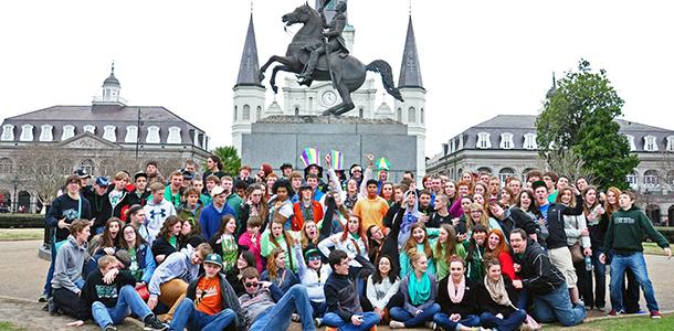 The band poses for a group shot during the trip to New Orleans in 2013.