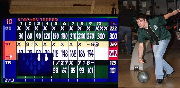 Sophomore bowls perfect game