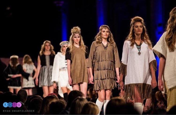 Raegen+Ramsdell+walks+in+Kansas+City+Fashion+Week.