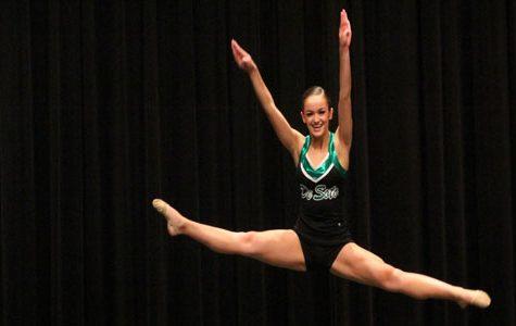 Junior Kelsey Vila preforming at Baldwin Cheer and Dance Festival.