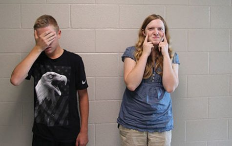 Freshmen Blake Millman and Lauren Mallicoat pose for a picture on Aug. 30.