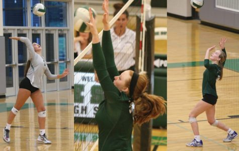 Varsity volleyball takes down league rivals in straight sets