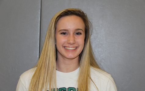 Freshman Taylor Ellis joins the varsity volleyball squad