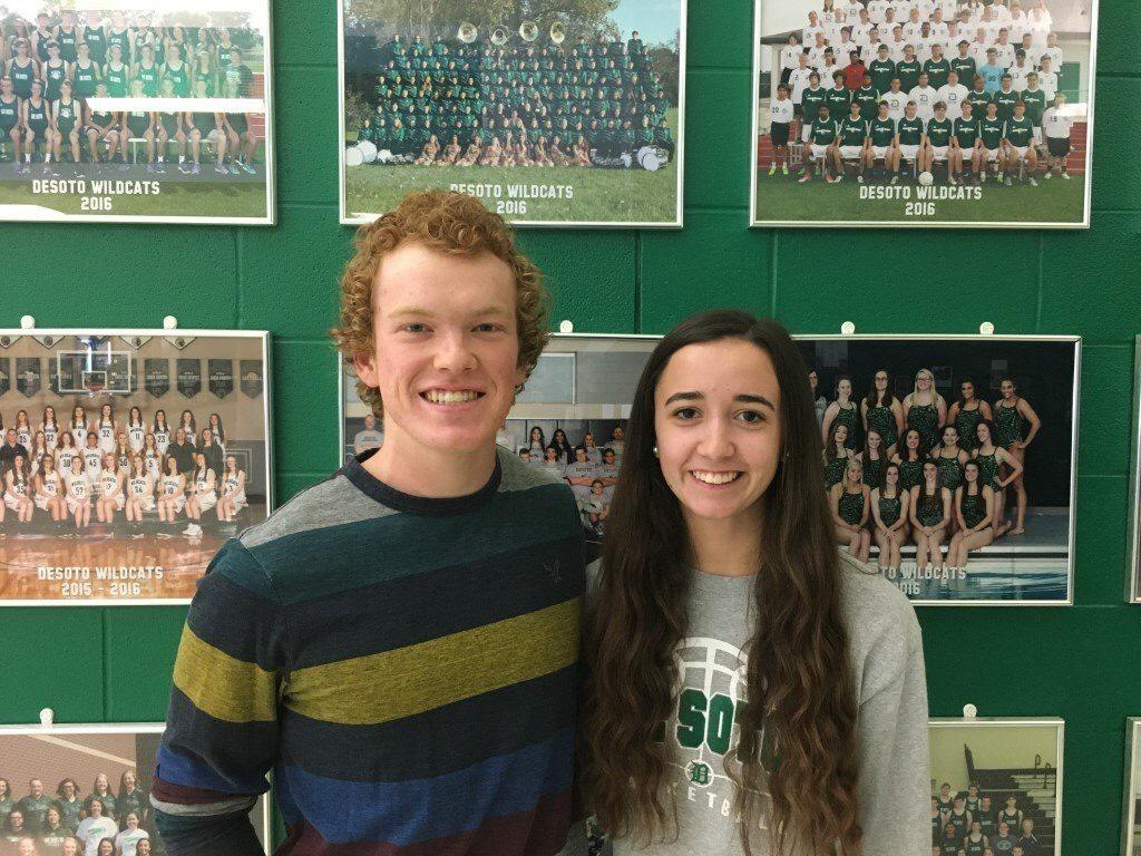 Senior Simon Couch and junior Kirsten Stous pose for a picture on Nov. 14