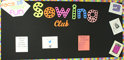 Sewing club continues into 2016-17 school year