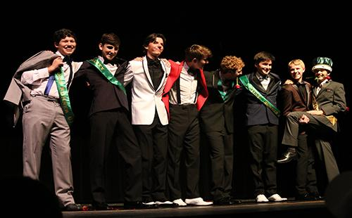 Mr. Wildcat contestants line up after awards on March 7.