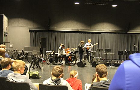 Jazz Ensemble entertains DHS band and choir students