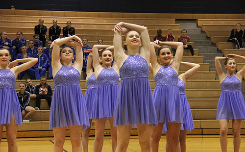 The Diamonds dance team preformed their lyrical routine at the Kansas Spectacular dance competition the weekend of January 20.