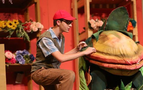 Senior Ryan Wollum practices at the musical dress rehearsal on May 10, the day before opening night.