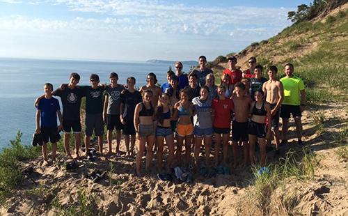De Soto and Bear Lake High School cross country teams bond during summer trip.