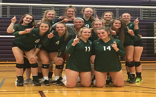 The varsity volleyball team won the frontier league tournament