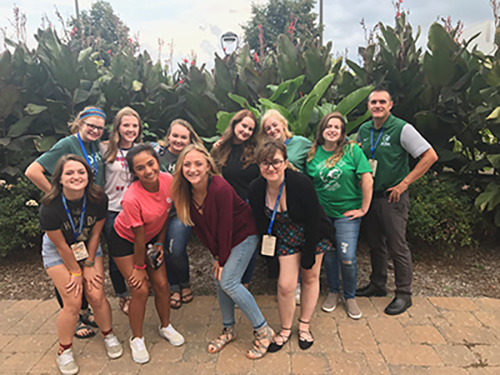 DHS newspaper and yearbook staff at the KSPA conference