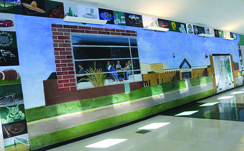 Example of an old mural painted by DHS students in 1999.