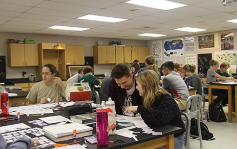 Students of the Environmental Science class work on biome assessment projects on Oct. 2.