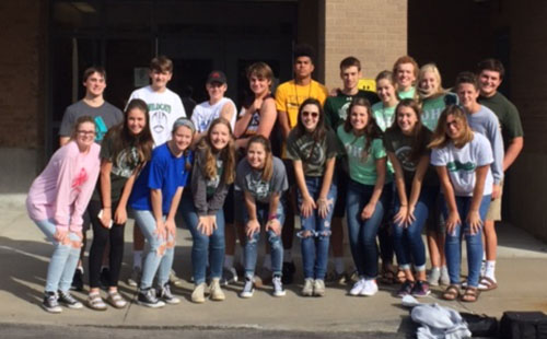 Student Council members volunteered at the Linwood Salvation Army in Nov. 2016.