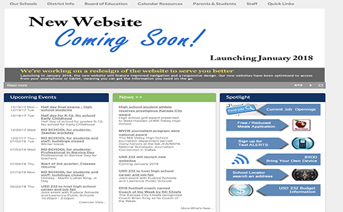 The district is launching a new website