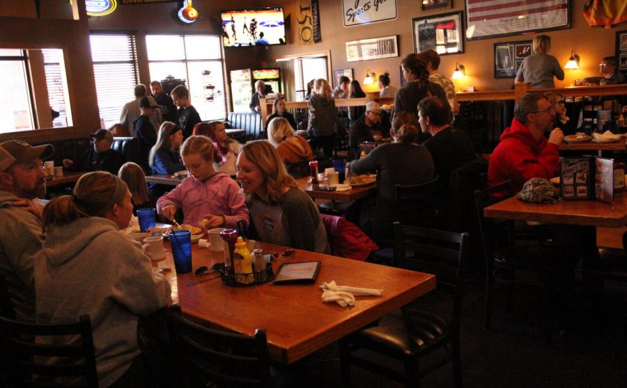 The De Soto community supports the Towner family at the pancake fundraiser at JT's Grill and Sports Bar on Jan. 27