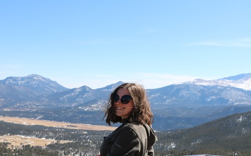 Junior Alyssa Perry poses for a picture at Rocky Mountain National Park on March 11.