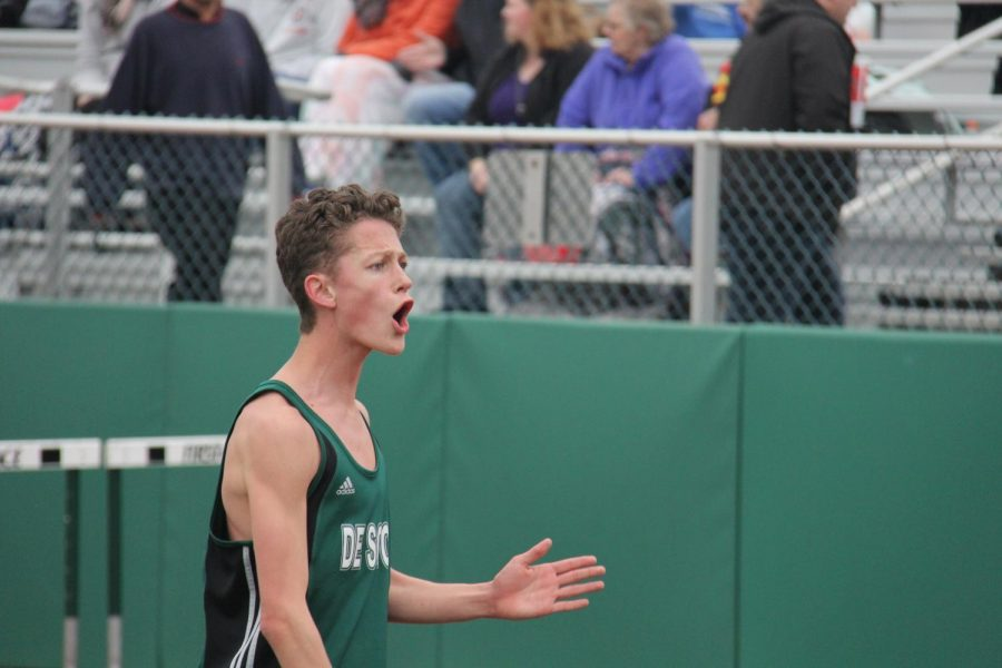 Sophomore+Chase+Culver+competes+at+a+home+track+meet+on+March+28.+