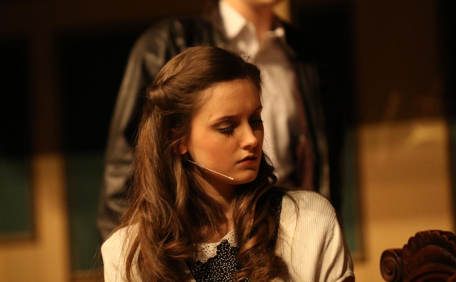 Junior Emma Leonard acts in the winter play,
