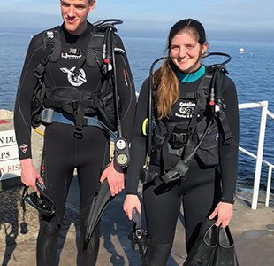 Sydney Selk receives scuba certification