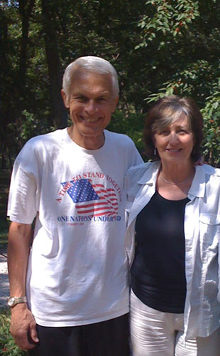 Committeeman Donald Hess poses for a photo with his wife Jean Hess.