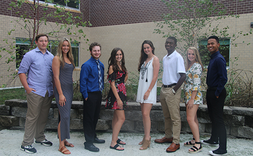 All senior Homecoming court candidates.
