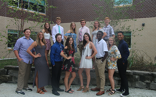 The+senior+king+and+queen+candidates%2C+junior+prince+and+princess+Cody+Adams+and+Delaney+Lecluyse%2C+sophomore+prince+and+princess+Kyle+Smith+and+Jaycie+Swift+and+freshman+prince+and+princess+Jeffrey+Sekavec+and+Taylor+Kreibhel.+
