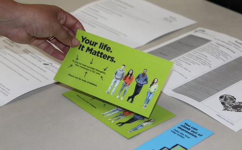 Information handed out to parents at the suicide prevention and awareness meeting at Mill Valley Sept 13.
