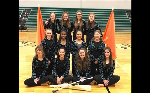 The 2017-18 DHS Color Guard poses for a picture