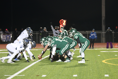 The Wildcats offense prepares to snap the ball during the Sectional playoff game vs. Olathe Weston Nov. 9.