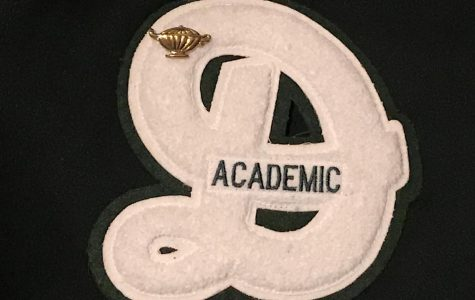 """Each of the 258 recipients of the academic letter were given this cursive """"D"""" as well as a pin on Jan. 8 to commemorate their accomplishment."""