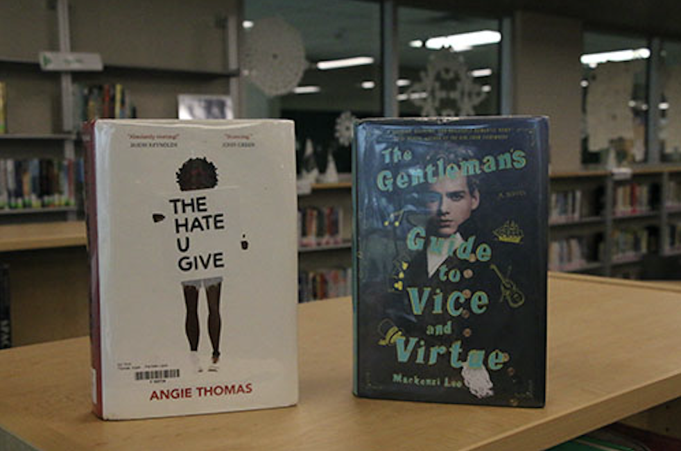 The Hate You Give by Angie Thomas and The Gentleman's Guide to Vice and Virtue by Mackenzi Lee are  two of many books recommended by media specialist Jennifer Sosna.