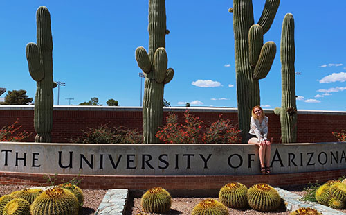 Senior Hannah Wilson visits the University of Arizona, the college that she will be attending next year.