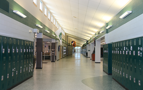 With school starting later, the halls of De Soto High School were deserted on the morning of Sept. 18, 2019.