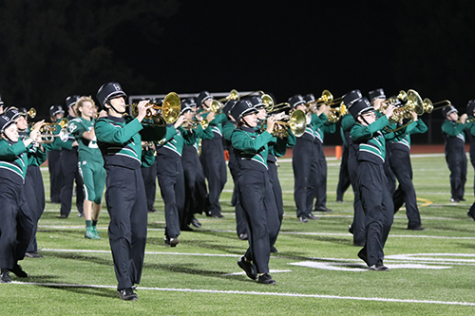 Marching band prepares funk halftime show