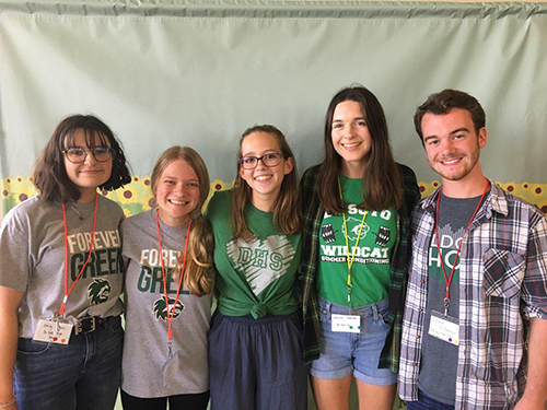 Five CatPride members attend the youth leadership summit on Aug. 30, 2019