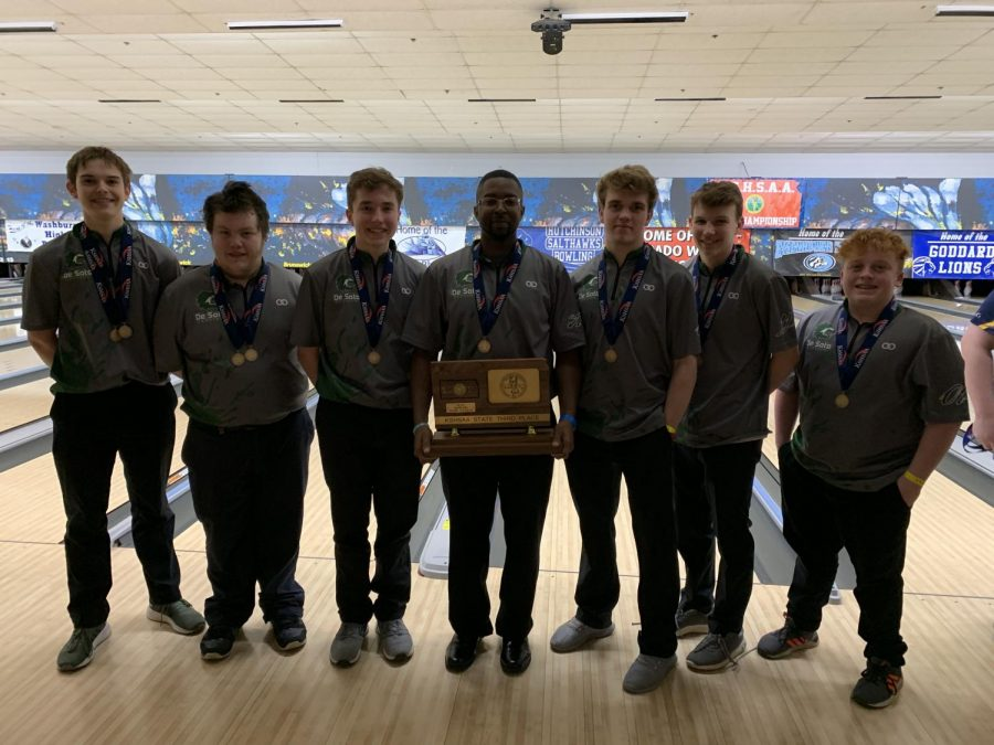 The 2018-19 boys' bowling team won second place at the state competition last year, and hope to achieve the same goal this season.