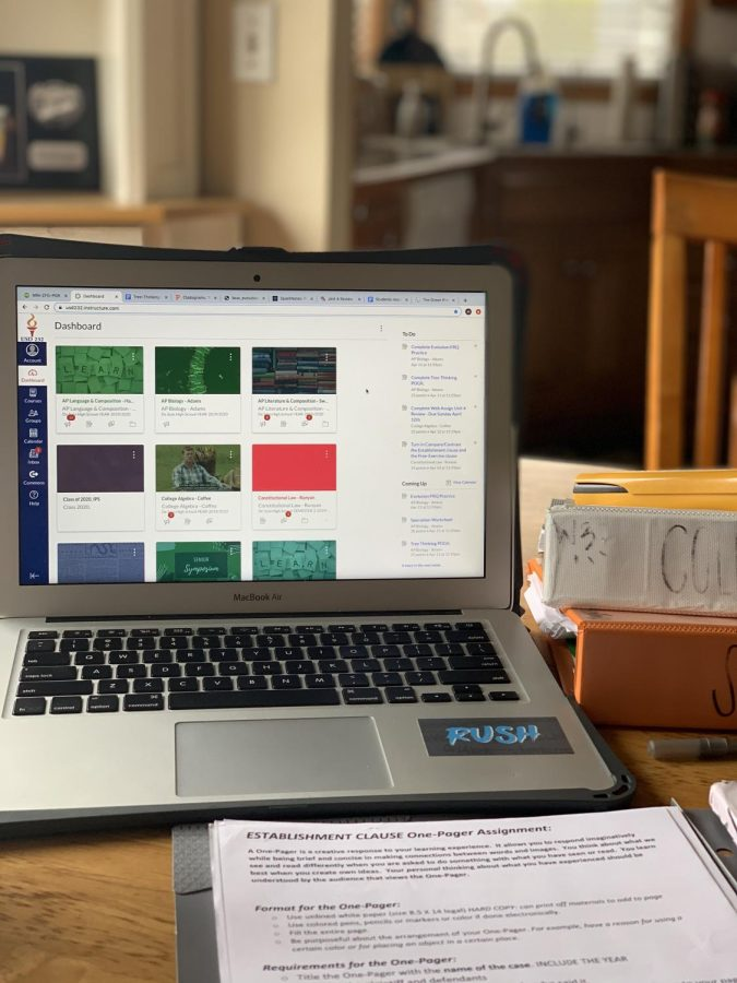 Students have been using the educational resource site Canvas to receive and complete all assignments for each of their classes as they transition to remote learning in light of new restrictions due to COVID-19.