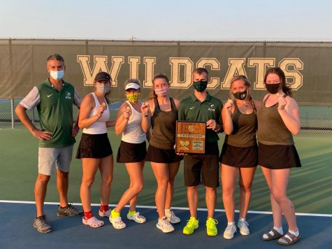 The De Soto High School girls' tennis team poses for a picture after winning the Regional championship on Oct. 11.