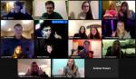 Debate students attending zoom