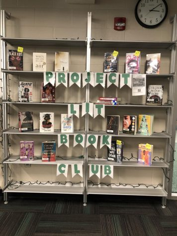 Project Lits monthly book selection. All the books pictured are available for checkout from the Media Center.